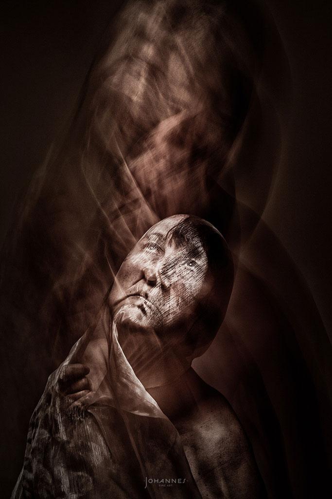 Heaven and Earth - long exposure studio photography